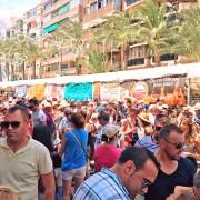 Las Hogueras en calle Alfonso Sabio de Alicante 2017