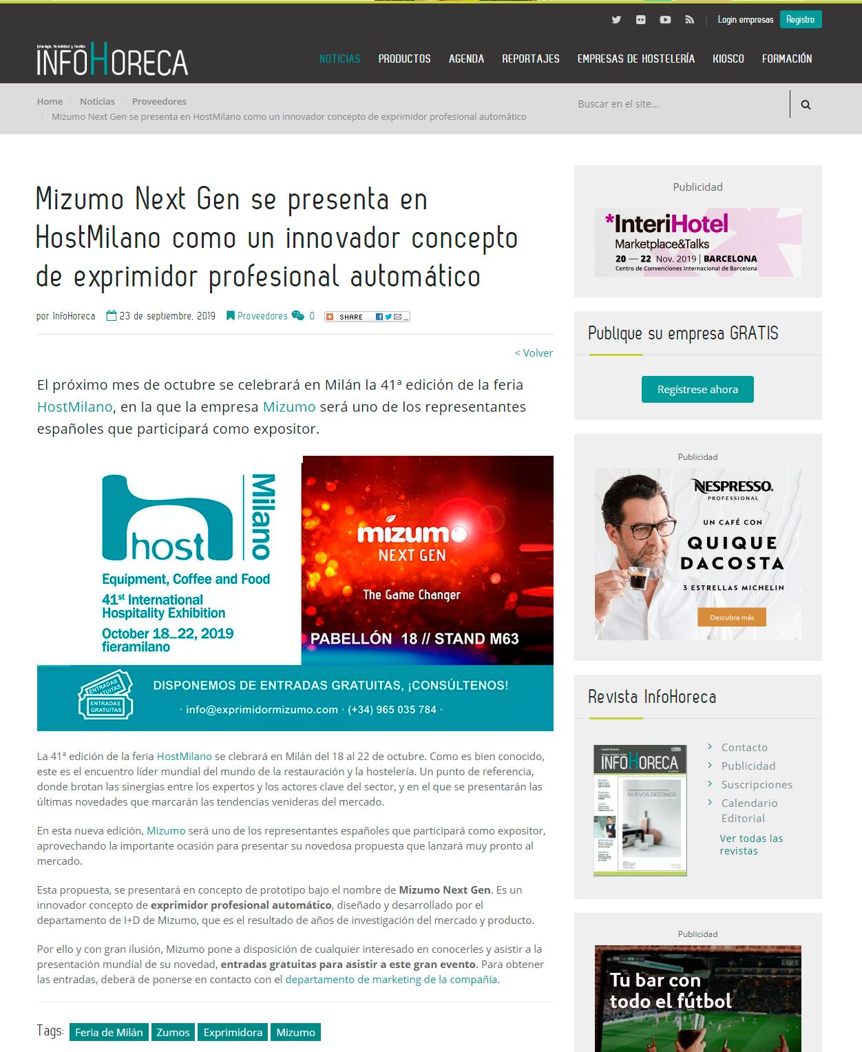 Articulo InfoHoreca