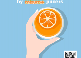 Freshly squeezed juice by Mizumo juicers