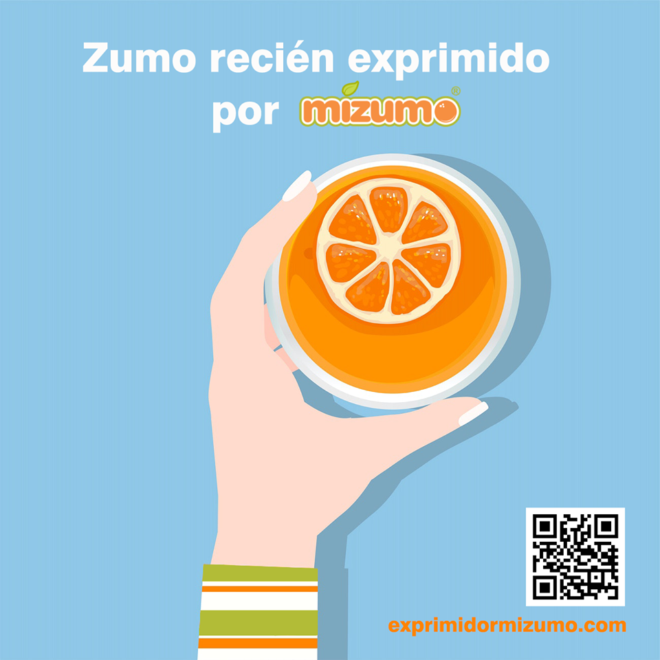 Zumo recién exprimido por Mizumo